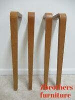 4 Vintage Mid Century Bentwood Dining Table Desk Console Legs Industrial set B
