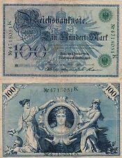 100 REICHSMARK 1908 - BANCONOTA GERMANIA BERLIN 7 FEBBRAIO 1908