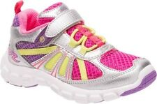 NIB STRIDE RITE Athletic Shoes Propel 2 Lace Silver Pink Yellow 8.5 M