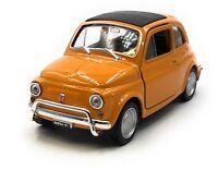 Modellino Auto Fiat Nuova 500 1957-1975 D'Epoca Arancione 1:3 4-39 (Licenza)