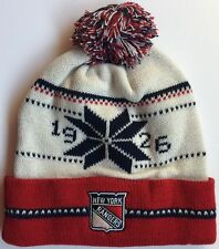 NEW YORK RANGERS 1926 PROPERTY OF KNIT CUFFED POM HAT by OLD TIME HOCKEY