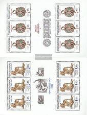 Checoslovaquia 2865Klb-2866Klb Sheetlet usado 1986 de Praga castillo