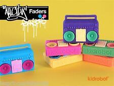 6-pack todos los City faders de Goma/borrador hip-hop Ghettoblaster by Kidrobot