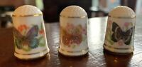 Vintage Limited Edition Franklin Porcelain 1979 Butterfly Thimbles