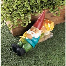 NEW Cute Flower Garden Gnomes Statues Yard Art Decor Solar Powered Path Lights