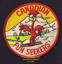 LMH Patch  CANADIAN FUN SEEKERS Snow Skiing Ski Canada Roadrunner Travel Club 4""