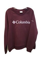 New Columbia Women's Burgundy Red Pullover Sweatshirt Size Large