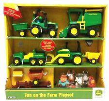NEW John Deere Learning Curve 20 piece Fun on the Farm Playset  TBEK34984