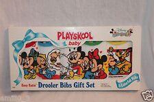NEW IN PACKAGE VINTAGE 1991 PLAYSKOOL BABY DISNEY MICKEY MOUSE BIBS GIFT SET 5
