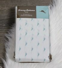 New Tommy Bahama Home Standard Pillowcases Teal Marlin Fish Cotton Percale