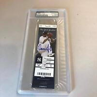Aaron Judge Signed Debut First Game Ever First Home Run & Hit Ticket PSA DNA COA