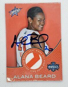 ALANA BEARD AUTOGRAPH SIGNED JERSEY CARD #AS8 LOS ANGELES SPARKS WNBA