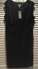 $139 BLK SEQUIN Dressy Cocktail DRESS QUEEN LATIFAH COLLECTION NEW wTags Size L
