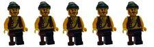LEGO 5x Pirata con pierna verde oscuro Pañuelo de cabeza pi110 MINIFIGURA NUEVO