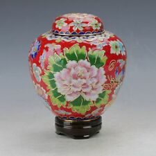 Chinese Cloisonne painted Flower  Pot