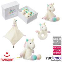 Aurora Lil Sparkle Plush Cuddly Soft Unicorn Toy Rattle Blanket Teddy Baby Gift