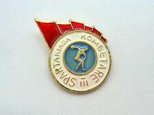 National 3 Spartakiad 1974. Rare sport pin, badge from Albania.