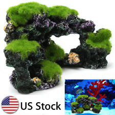Aquarium Coral Reef Moss Rock Fish Tank Through Pass Island Ornament Cave Decor
