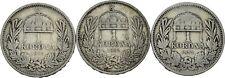 PRAGER: Österreich, Franz Josef I., 1 Korona 1892, 3 Stück [1152]