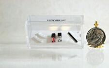 Dollhouse Miniature Nail Polish Set with Polish Bottles, a File & Toe Separators