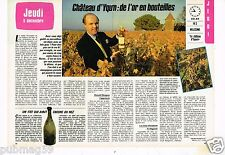 Coupure de presse Clipping 1985 (2 pages) Chateau d'Yquem