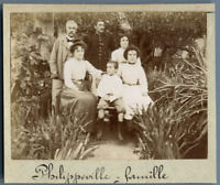 Algérie, Philippeville (Skikda سكيكدة), Famille Bernardi  Vintage citrate print.