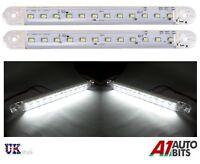 Pair Of Universal 12 LED White Daytime Running DRL Day Light Car Light 180mm 12V