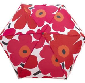 Marimekko Folding Umbrella MINI MANUAL PIENI UNIKKO 048858 WHITE / RED