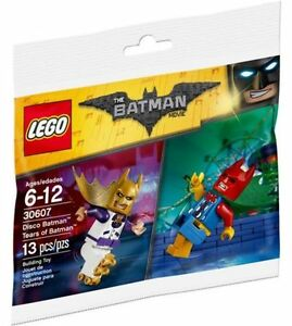 30607 DISCO BATMAN MOVIE & TEARS OF CLOWN lego NEW poly bag legos set MINIFIGS