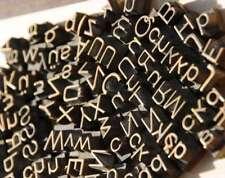 Konvolut Messinglettern Buchbinden Prägen Messingschrift Prägeschrift Heißprägen