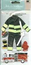 FIREFIGHTER Fighting Fire Fires Truck Hydrant Hose Helmet Jolee's stickers Craft