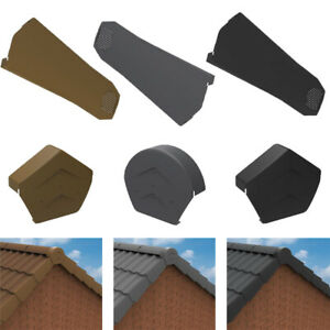 Universal Dry Verge System for Gable / Apex Roof - Tile End Cap & Ridge End Caps