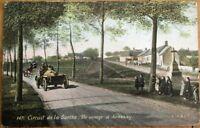 French Car Race 1906 Postcard: Circuit de la Sarthe - Un Virage a Ardenay