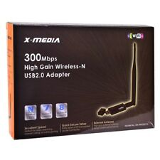 X-Media XM-WN3201D 300Mbps High Gain Wireless-N USB 2.0 ANTENNA - SHIPS IN 24HRS
