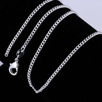 1PCS 925 Sterling Silver 2MM Rolo Curb Chain Necklace Link 16-24inch Jewerly