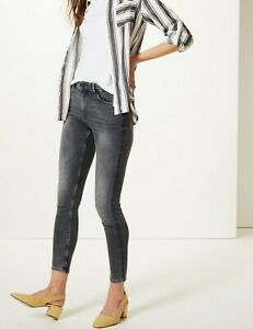 LADIES EX MARKS & SPENCER THE IVY SKINNY FIT MID RISE COTTON BLEND JEANS M&S