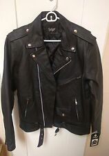 Reclaimed Vintage NEW Vintage-Inspired Leather Biker Jacket-Large-L-ASOS-Black