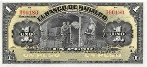 México / Hidalgo 1  Peso  5.5.1914  M 368r  Series  A  Uncirculated Banknote MMX