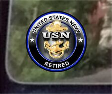 "ProSticker 1073 (One) 4"" United States Navy USN Retired Decal Sticker"