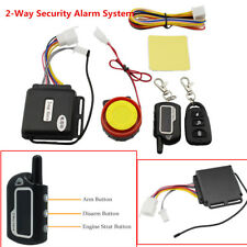 Motorcycle 2-Way Security Alarm System Anti-theft Remote Control Waterproof Kit