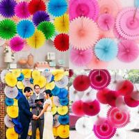 5pcs Tissue Paper Fan Flower Hanging Decoration Birthday Wedding Party Decor