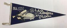 Vintage 1966 World Series Pennant Baltimore Orioles vs Los Angeles Dodgers MLB