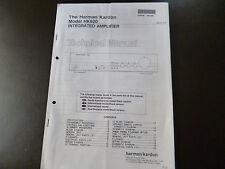 Service Manual Harman Kardon  Integrated Amplifier HK 620