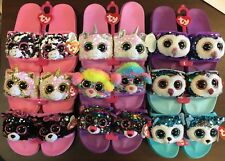 f21f2bf88e6 TY Beanie Boos Fashion Sequin Flip Flop Sandals with Heart Tags NEW