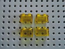 Lego 4 x Stein Glasbaustein 3065  transparent  gelb 1x2 ohne Steg