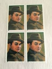 Edward G. Robinson USA Block Of 4 33c Stamps