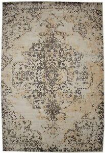Hand-Loomed Distressed Brown 6X9 Modern Floral Design Area Rug Home Decor Carpet