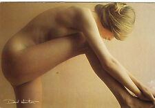 Tarjeta postal David Hamilton ca1975 Girl chica rubia nude acto Busty pechos po Butt