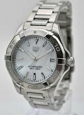 Lady's Tag Heuer Aquaracer WAY1312 MOP Dial Stainless Steel Watch Box & Papers