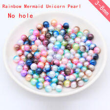 3-10mm Round No hole acrylic Mermaid beads jewelry Wedding Table Scatters Decors